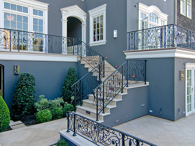 The Architecture Is Stunning And So Iron Work Color They Chose To Paint This House Very Cly