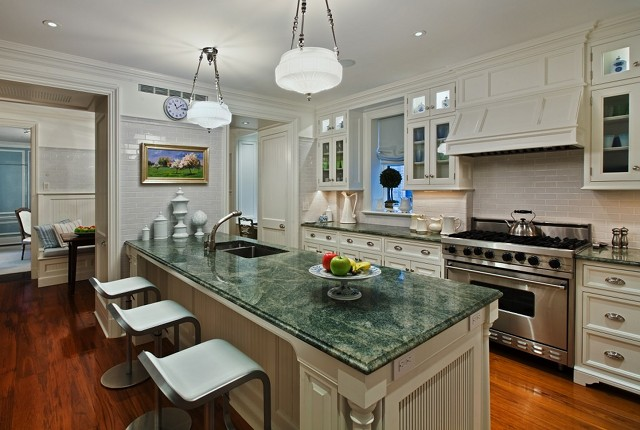 Great Architecture And Interior Design - Home Bunch ... on What Color Cabinets Go Best With Black Granite Countertops  id=39339