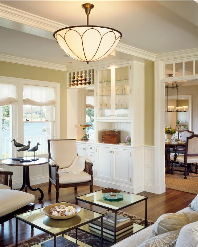 Living Room. I really like the built-in in this living room. #LivingRoom