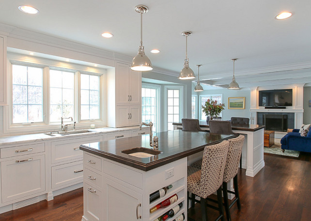 Kitchen Lighting. Kitchen Island Lighting. Kitchen Lighting is Hudson Valley Pelham Pendant in Polished Nickel.. #KitchenLighting #Kitchen #Lighting #HudsonValley #PelhamPendant #PolishedNickelLighting  Redstart Construction.