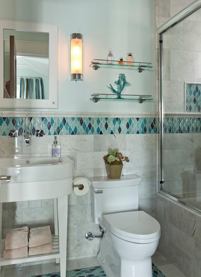Small Bathroom. Small Bathroom Layout. Small Bathroom Tiling. Small Bathroom Sink and Stand. The sink is Duravit 041765 00 60 available through Hagan Flynn LA. Anne Michaelsen Design custom sink stand. #Bathroom #SmallBathroom