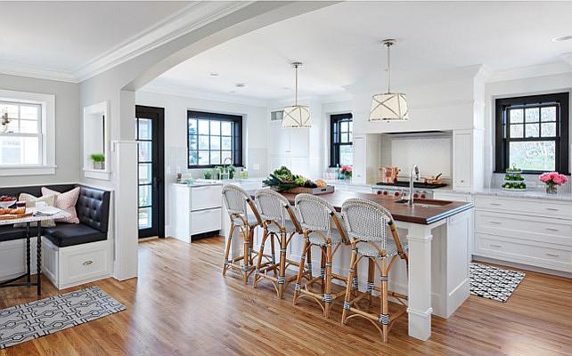 Bistro Style Kitchen With Breakfast Nook Home Bunch Interior Design Ideas