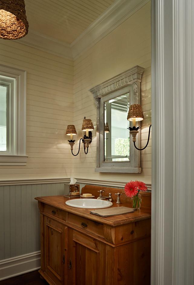 Beading For Bathroom Floor : Elegant coastal cottage home bunch interior design ideas