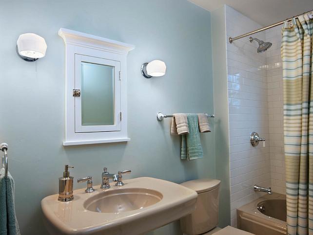 Beige Tiles Bathroom Paint Color