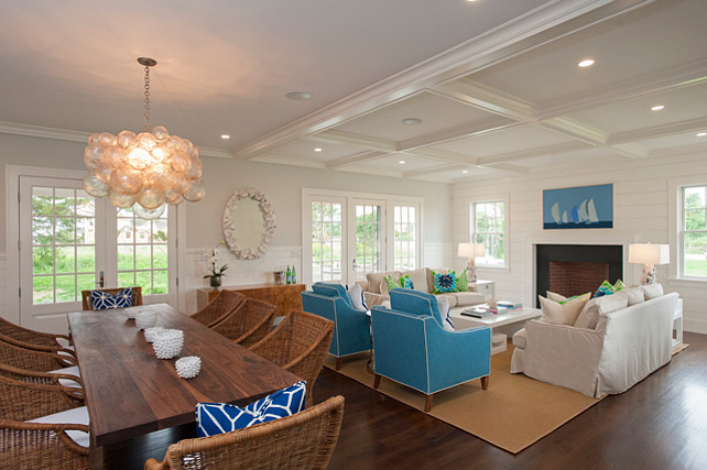 Open Concept Living Room. Open Concept Living Room Ideas. This open concept living room is painted in Benjamin Moore Horizon. #OpenConcept #Interiors #LivingRoom #BenjaminMooreHorizon #BMHorizon #BenjaminMoorePaintColors