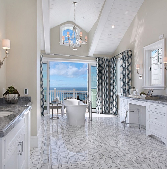 Bathroom Lighting. Bathroom Lighting ideas. Bathroom Lights. Bathroom chandelier is the Chart House E.F. Chapman Large Crystal Cube Chandelier in Polished Nickel with Natural Paper Shades by Visual Comfort. #Bathroom #BathroomLighting #BathroomChandelier #Coastal