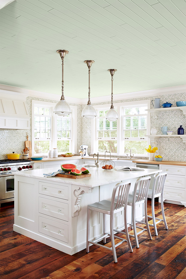 Kitchen Design By Sarah Richardson. Cottage Kitchen. Kitchen With Painted  Ceiling. Painted Ceiling