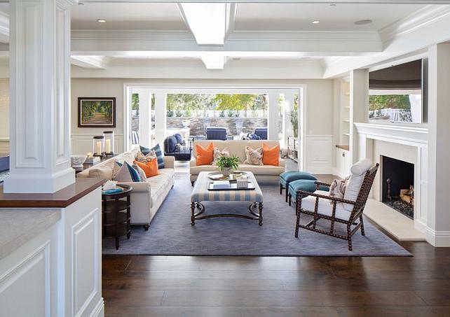 Living room. Living room furniture. Living room rug. Living room ceiling. Living room millwork. Living room fireplace. Living room tv. Living room pillows. Living room layout. Living room opens to outdoor. #Livingroom