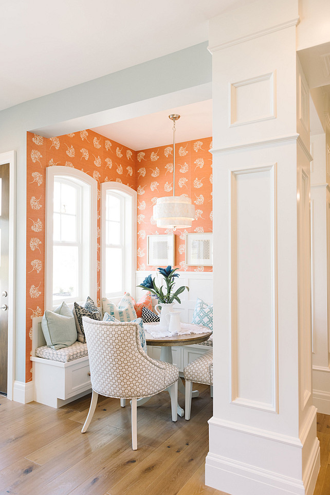 Breakfast Nook. Breakfast Nook Design. Breakfast Nook Banquete. Breakfast Nook Lighting. Breakfast Nook Table. Breakfast Nook Chairs. Breakfast Nook Wallpaper. Breakfast Nook Color Scheme. #BreakfastNook Four Chairs Furniture.