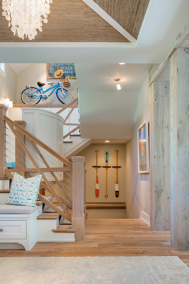 Coastal Interiors. Coastal Home with Coastal Interiors. Coastal home Staircase with coastal decor in coastal home. #CoastalInteriors #CoastalHome #CoastalInteriorIdeas #CoastalDecorIdeas #CoastalHomes Great Neighborhood Homes.