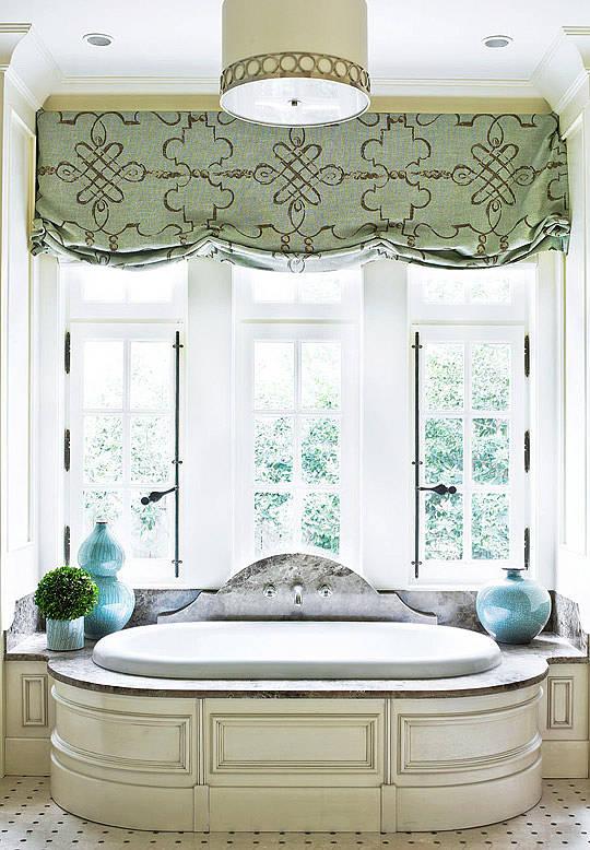 Bathroom Window Treatments Roman Shades