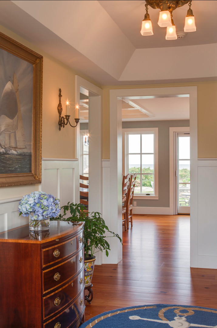 Wall Paint Color: Benjamin Moore Philadelphia Cream HC-30 Trim Paint Color: Benjamin Moore White Dove OC-17