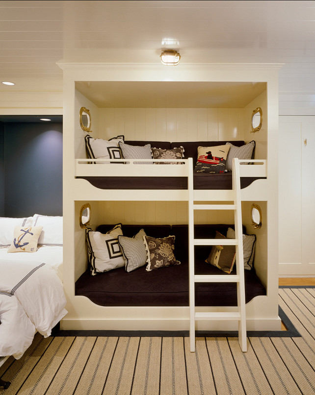Bunk Room. Great Coastal Bunk Room Design. #Bunkroom