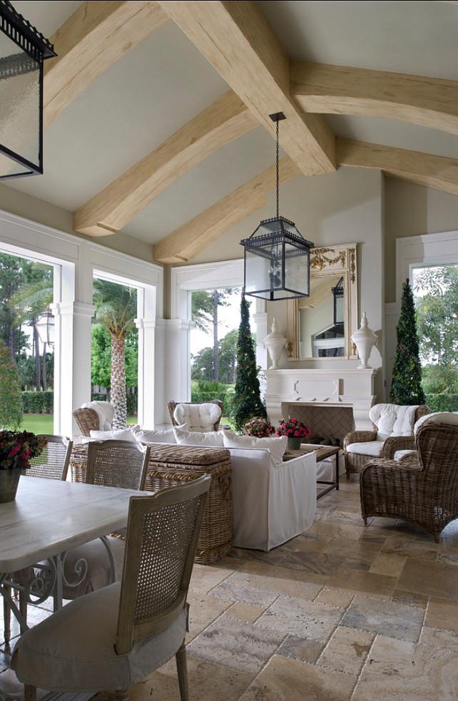 Design Element Of A House With A Long Enclosed Sunroom