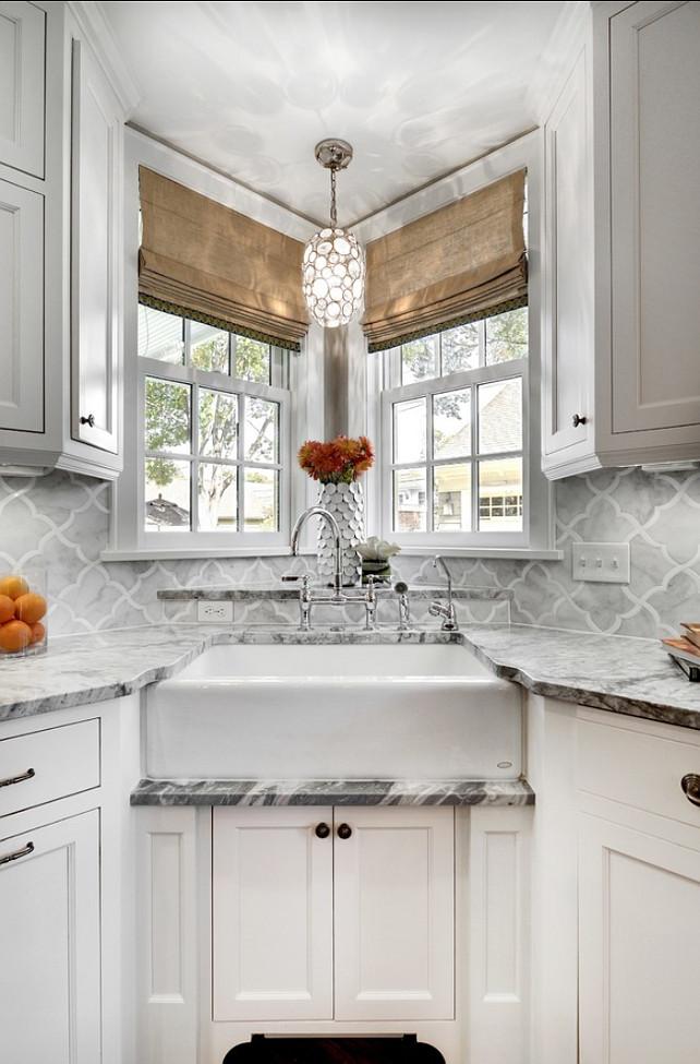 Corner Kitchen Sink Ideas : Kitchen #Sink This kitchen has a great Farmhouse Sink.