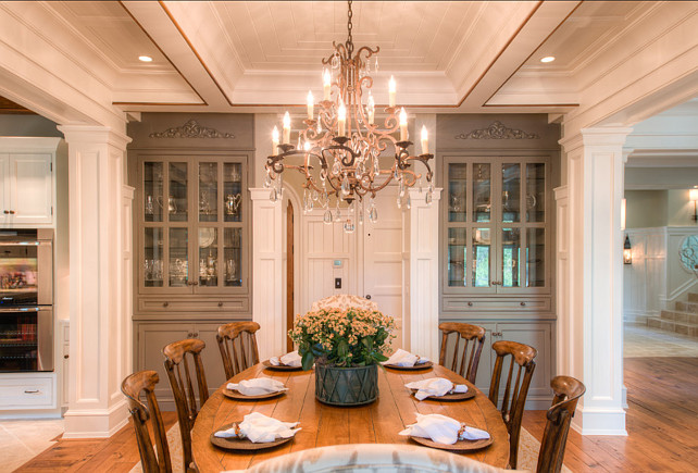 Beautiful architecture and interiors home bunch interior design ideas - Dining room built ins ...