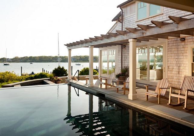 Backyard Ideas. Dream backyard with pool and water views! #Backyard