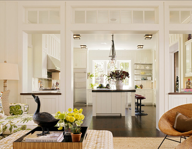 White Kitchen. Interesting layout in this white kitchen. WhiteKitchen #Kitchen