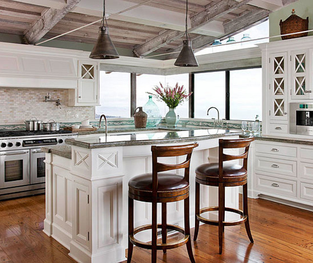 Beach Style Kitchen. The Backsplash ...