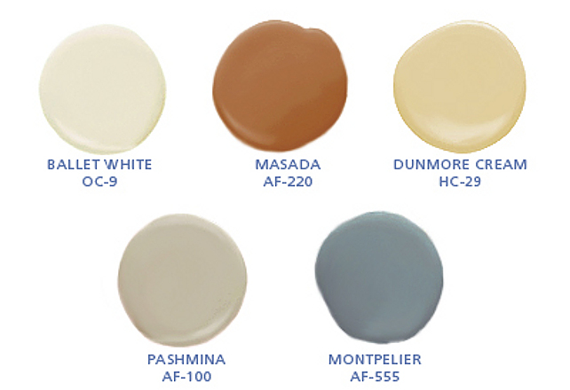 Fall Paint Color Inspiration. Warm Paint Color for Fall-Autumn. Ballet White OC-9 Benjamin Moore. Masada AF-220 Benjamin Moore. Dunmore Cream HC-29 Benjamin Moore. Pashima AF-100 Benjamin Moore. Montpelier AF-555 Benjamin Moore. #FallPaintColor #FallTrendPaintColor #AtumnPaintColor #BenjaminMooreBalletWhite #BenjaminMooreMasada #BenjaminMooreDunmoreCream #BenjaminMoorePashima #BenjaminMooreMontpelier