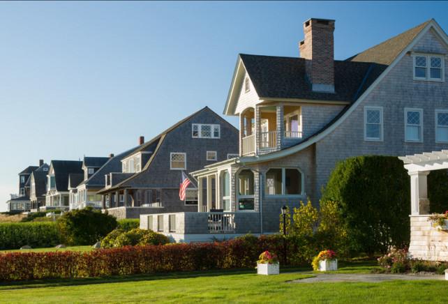 Beach House Ideas. Great shingled-style beach houses. #BeachHouse #BeachCottage