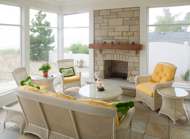 Beach Cottage With Colorful Interiors Home Bunch