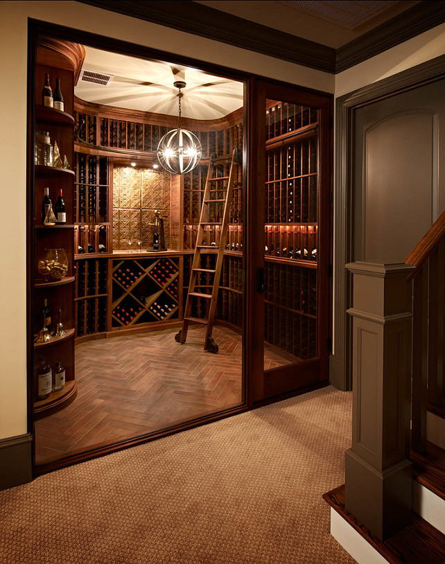 Traditional home with beautiful interiors home bunch for Wine cellar in floor