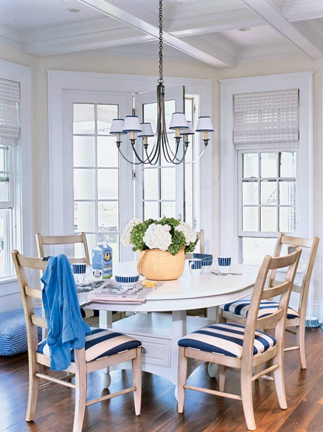 Eating Nook. Casual Coastal Eating Nook #Eating #Nook #Interiors #HomeDecor