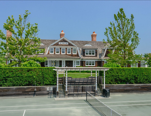 Tennis Court. Great Tennis court design ideas. #TennisCourt