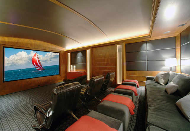 Theatre Room Design Ideas. This is such an inspiring Theatre Room! #TheatreRoomDesignIdeas #TheatreRoom