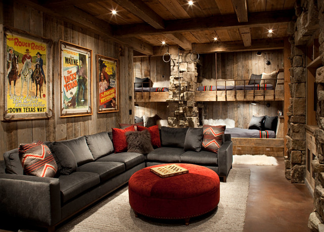 Rustic ski lodge home bunch interior design ideas for Ski decorations for home