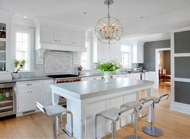 Kitchen Design Ideas. Great white kitchen! #KitchenDesign Ideas
