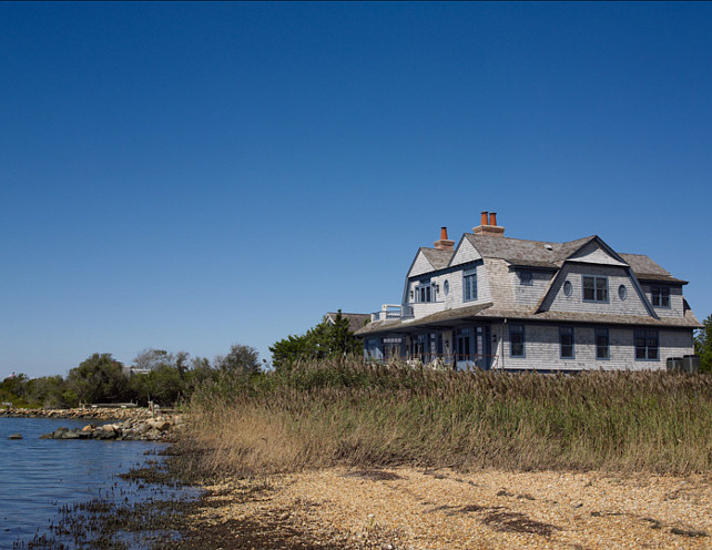 Shingle Style Beach House. This Shingle Style Beach House is a dream, inside and out! #Shingle #BeachHouse