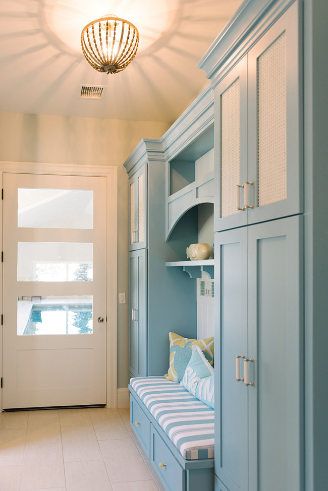 Mudroom Cabinet And Wall Paint Color Combination The Is Benjamin Moore