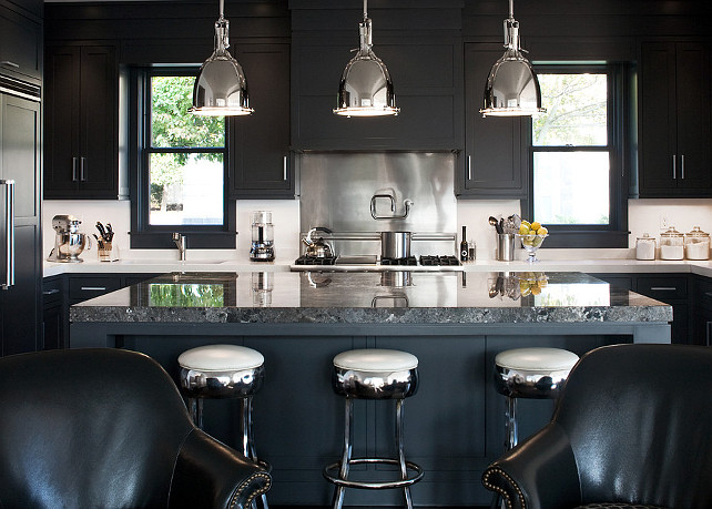 Black Kitchen. New trend for kitchens: All Black Kitchen! #Kitchen #KitchenTrends #BlackKitchen LDA Architects.