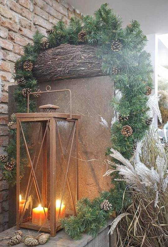 Easy natural christmas decor home bunch interior design for Simple outdoor christmas decorations