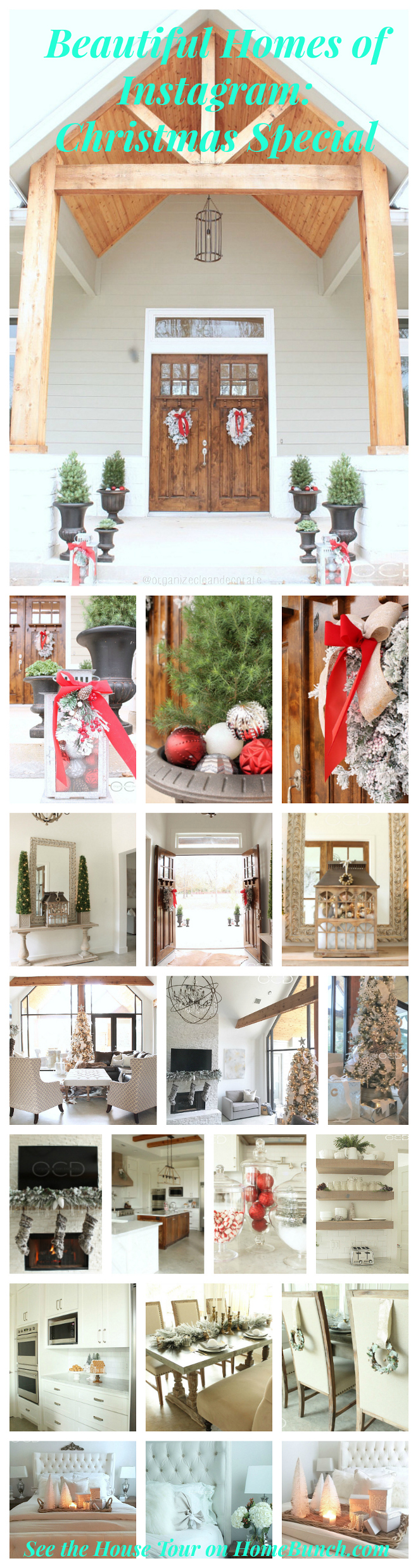 Beautiful Christmas decor brings some extra charm to this stunning home!