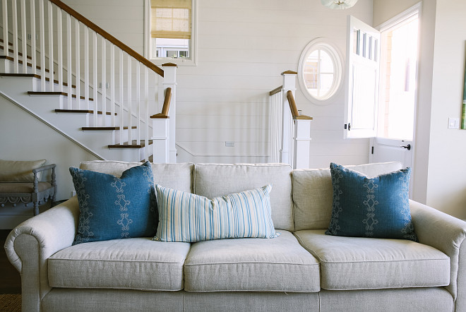 Living Room Blue Pillow Fabric. Living Room Blue Pillow Fabric Ideas. Living Room Indigo Blue Pillow Fabric. The blue pillows are custom. The pillows fabric are from Hollywood at Home. Rita Chan Interiors.