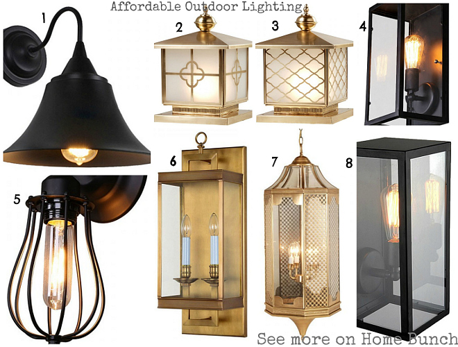 Affordable Outdoor Lighting. 1: Vintage Industrial Style Bell Shape Shade  Wall Sconce. $96