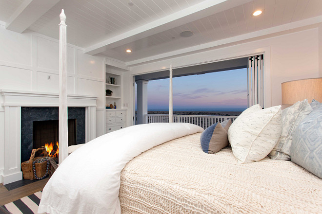 Benjamin Moore Simply White: Cape Cod Inspired Beach Cottage