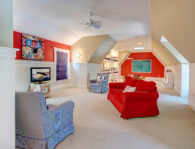 Bonus Room Bunk Room. Bunk room in Bonus room with kids play area. #BonusRoom #BunkRoom Grand Estates Auction Company.