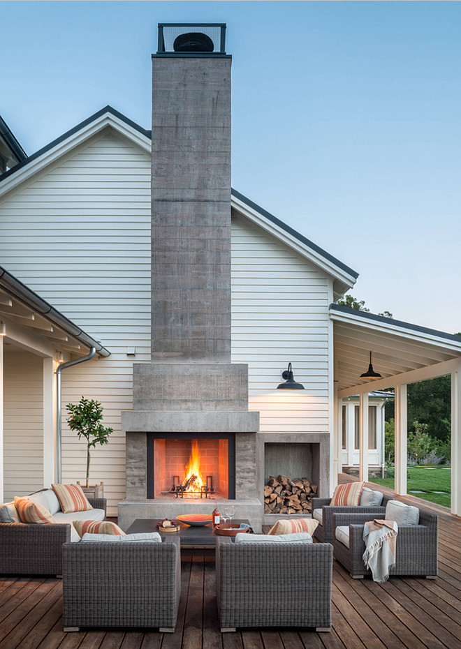 Deck Fireplace. Backyard deck fireplace ideas. Moller Architecture, Inc.