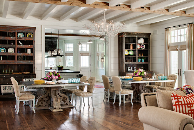 Dining Room with Two Tables. Large Dining Room with Two Dining Tables. #Large #Diningroom #Tables Wade Weissmann Architecture. David Bader Photography.