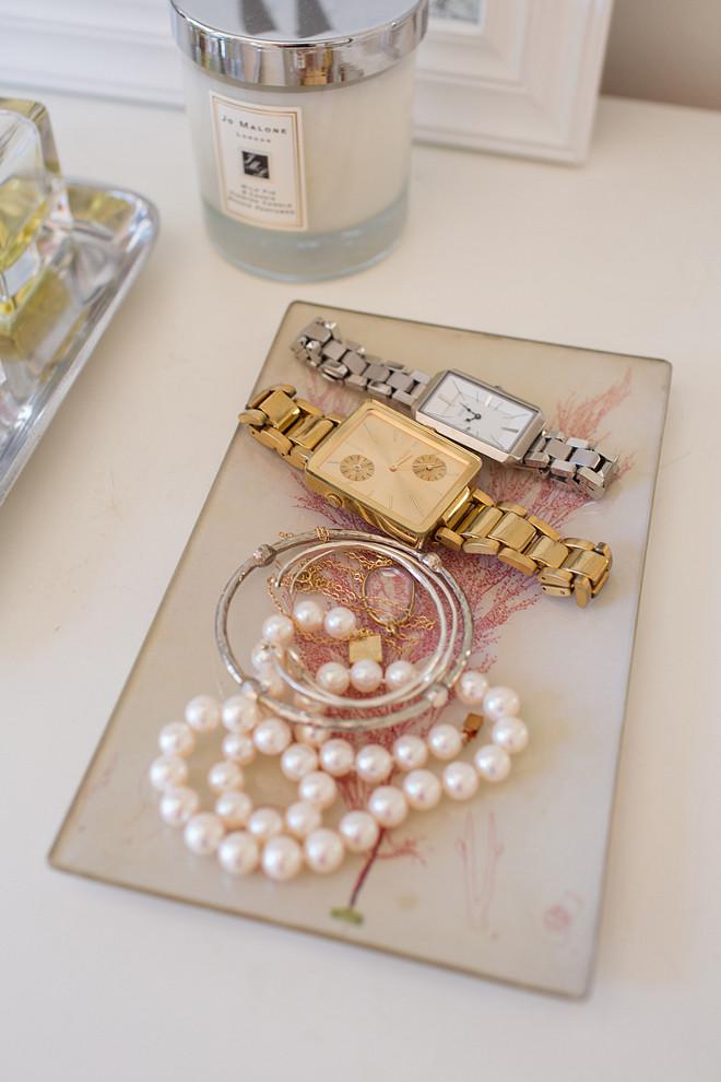 Jewelry Tray. Jewelry Tray Ideas. Bedroom or bathroom Jewelry Tray. Rita Chan Interiors.