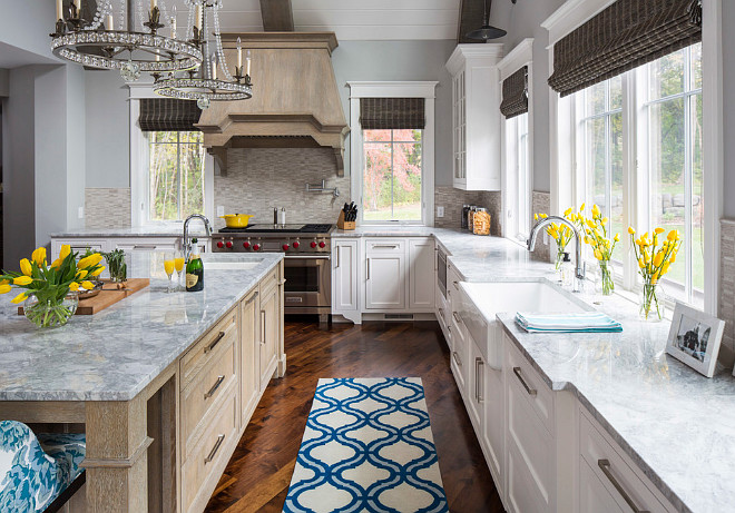 "Kitchen Backsplash. The kitchen tile backsplash is The Tile Shop 12"" x 12"" Legno Holden Tile. The backsplash looks great with the Vanilla Ice Granite Countertop. Kitchen backsplash countertop combination ideas. #Backsplash #Countertop #Kitchen.  Martha O'Hara Interiors."