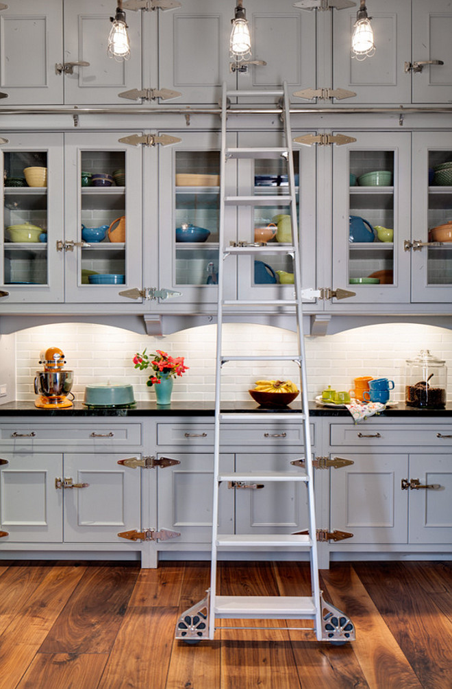 Kitchen Cabinet with Ladder. Kitchen Cabinet Ladder Ideas. Ladder Kitchen Cabinet Ideas. Beautiful kitchen cabinet with ladder. #Kitchen #Cabinet #Ladder Wade Weissmann Architecture.
