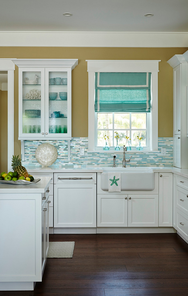 Beach House Kitchen With Turquoise Decor Home Bunch Interior Design Ideas