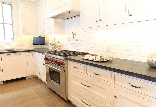 Painted Brick Backsplash. White Painted Brick Kitchen Backsplash. Painted Brick Backsplash. Painted Brick Backsplash Painted Brick Kitchen Backsplash Graystone Custom Builders.