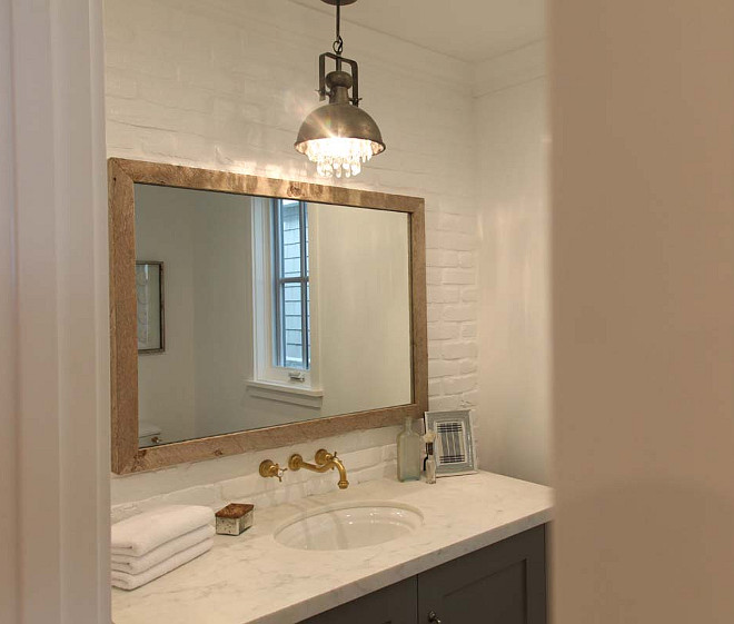 Powder Room Lighting. Powder Room Pendant Lighting. Powder Room Pendant Lighting Ideas. #PowderRoom #Pendant #Lighting Graystone Custom Builders.