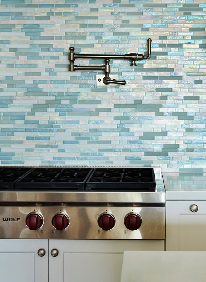 Sea Gl Tile Backsplash Beach House Blue